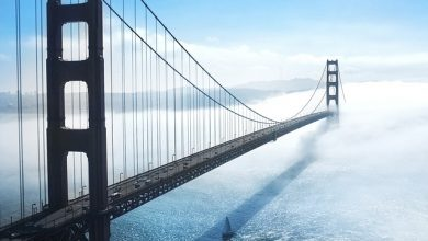 golden gate brug San Francisco mist