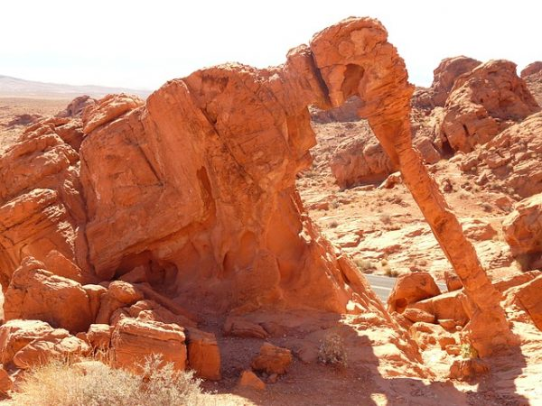 Valley-of-fire-bezienswaardigheden-elephant-rock