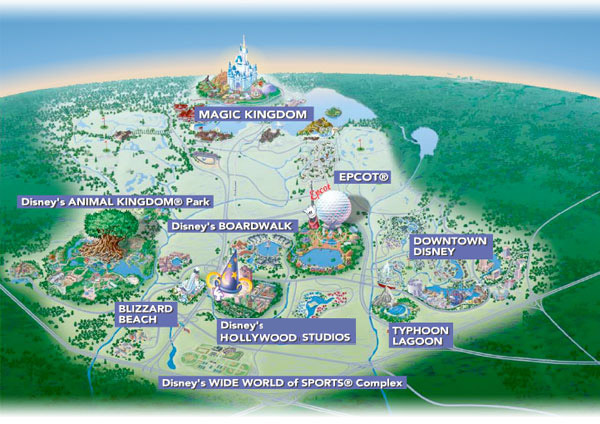 disneyland amerika map walt disney world resort