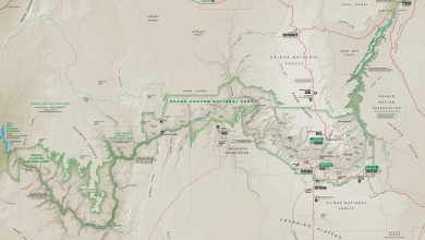 Photo of Grand Canyon kaart. Download gratis Grand Canyon maps.