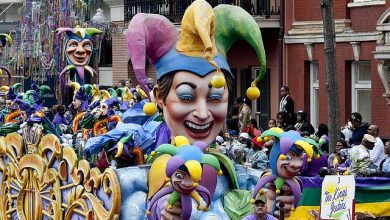 Photo of Mardi Gras, New Orleans. Een groot verkleed- en paradefeest.
